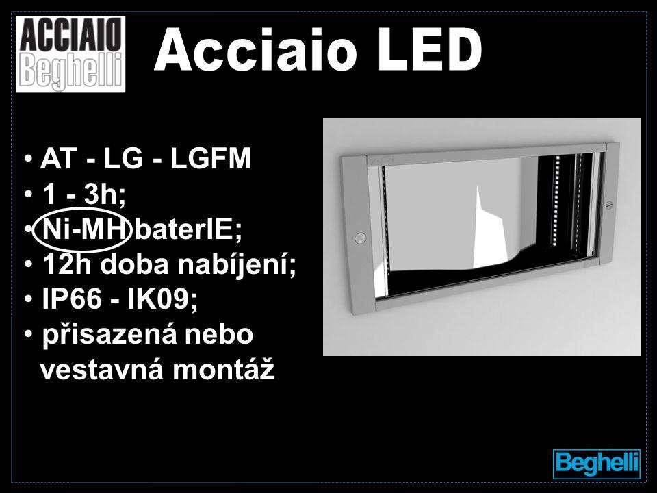 AT - LG - LGFM 1 - 3h; Ni-MH baterIE; 12h doba nabíjení; IP66 - IK09; přisazená nebo vestavná montáž