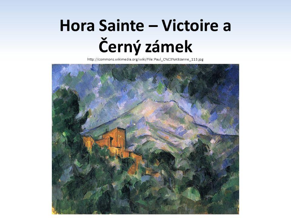 Hora Sainte – Victoire a Černý zámek http://commons.wikimedia.org/wiki/File:Paul_C%C3%A9zanne_113.jpg