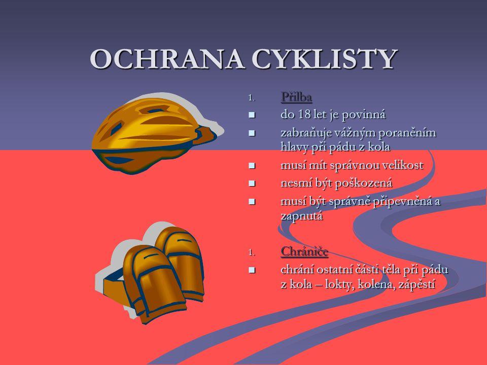 OCHRANA CYKLISTY 1.
