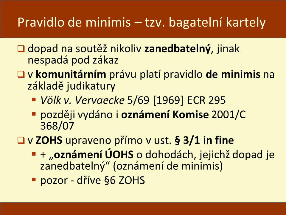 Pravidlo de minimis – tzv.