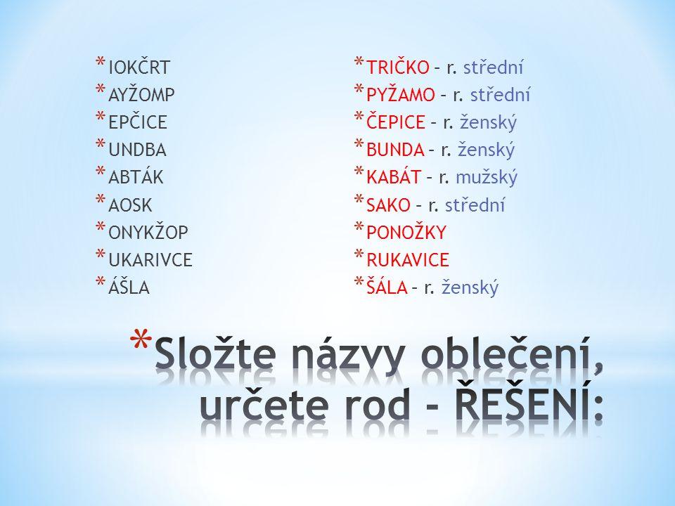 Téma: Podstatná jména - opakování, 5.ročník Použitý software: držitel licence - ZŠ J.
