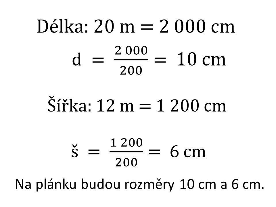 Vzdálenost dvou měst na mapě v měřítku 1:500 000 je 15 cm.
