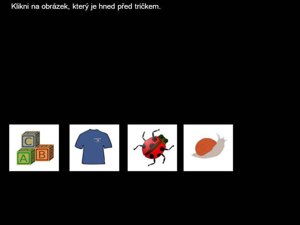 Klikni na obrázek, který je hned před tričkem.