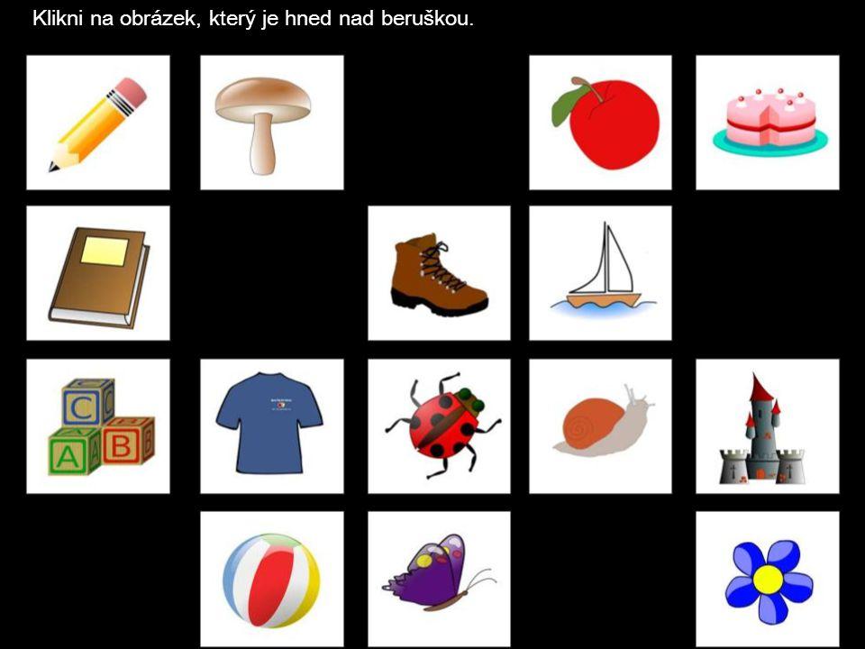 Klikni na obrázek, který je hned za jablkem.