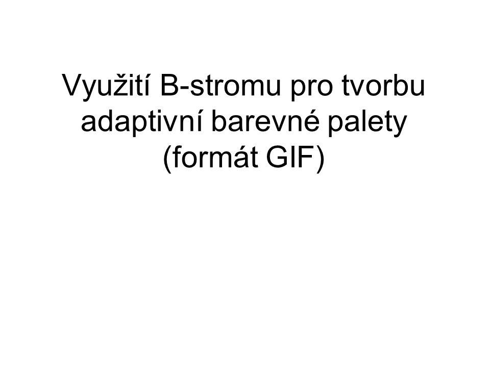 Využití B-stromu pro tvorbu adaptivní barevné palety (formát GIF)