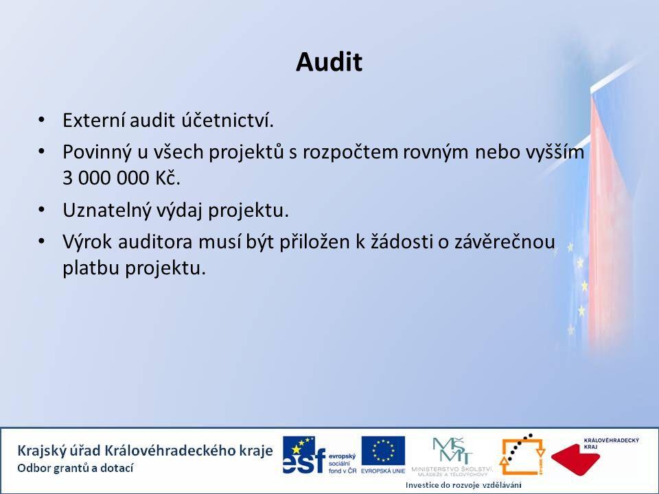 Audit Externí audit účetnictví.