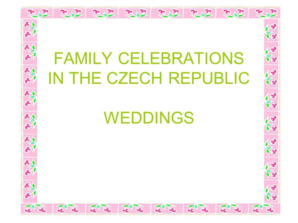 Metodický list DUM seznamuje studenty se základními informacemi o rodinných oslavách, zejména svatbě, formou prezentace.