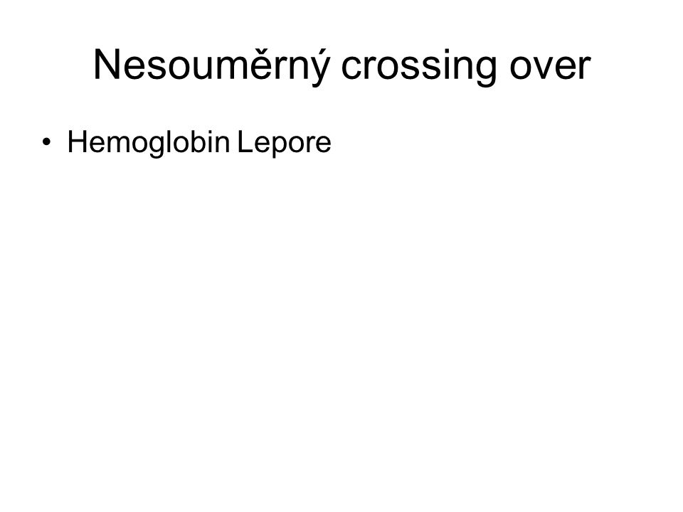 Nesouměrný crossing over Hemoglobin Lepore