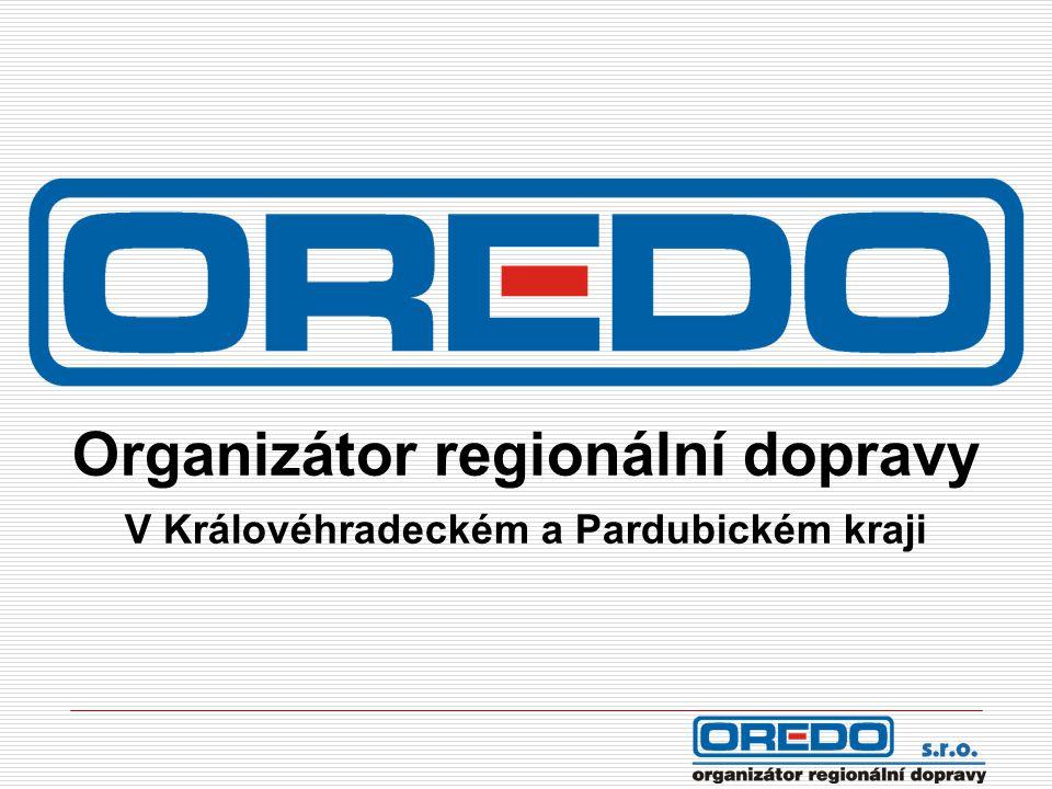Organizátor regionální dopravy V Královéhradeckém a Pardubickém kraji