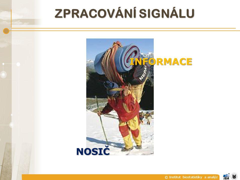 © Institut biostatistiky a analýz ZPRACOVÁNÍ SIGNÁLU NOSIČ