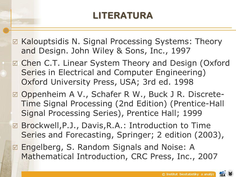 © Institut biostatistiky a analýz CO JE TO SIGNÁL ?