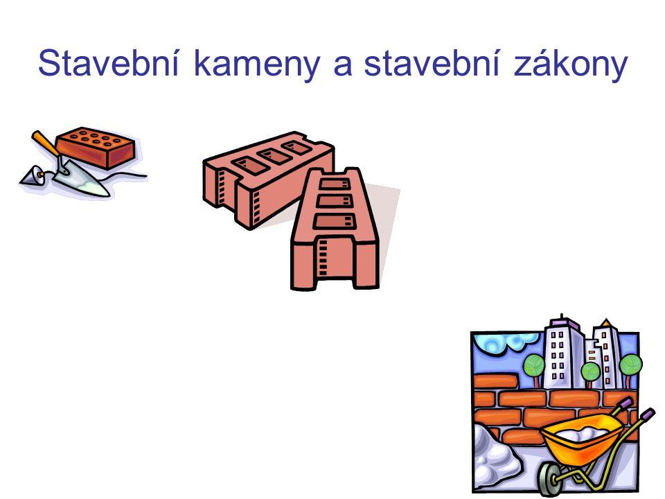 Stavební kameny a stavební zákony