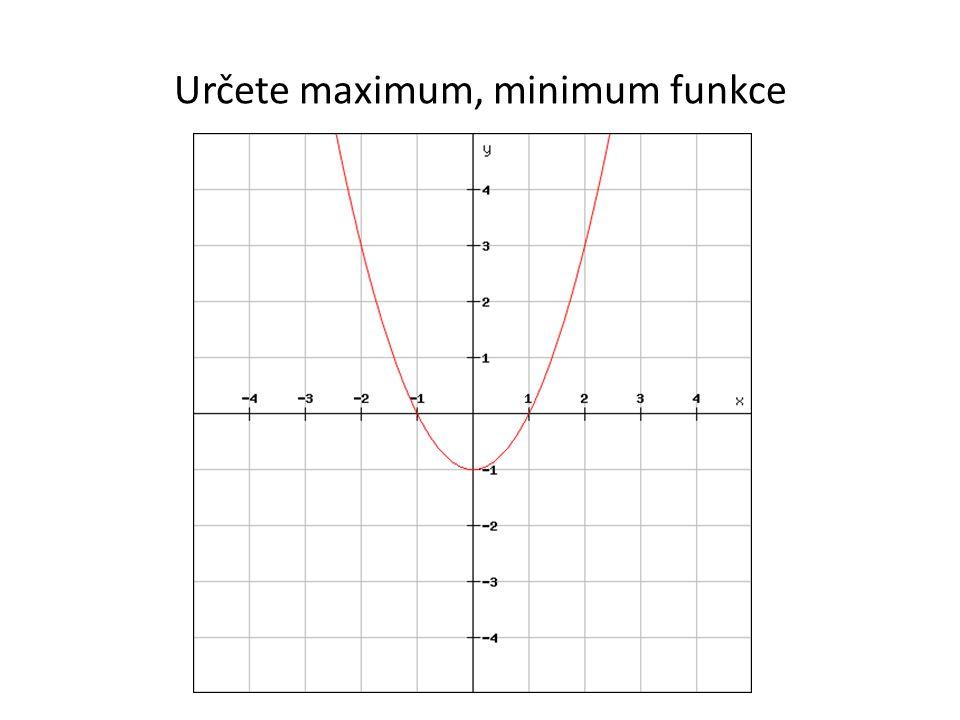Určete maximum, minimum funkce
