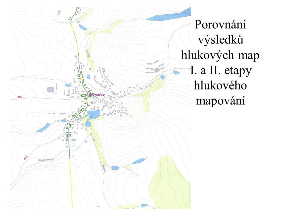 Porovnání výsledků hlukových map I. a II. etapy hlukového mapování
