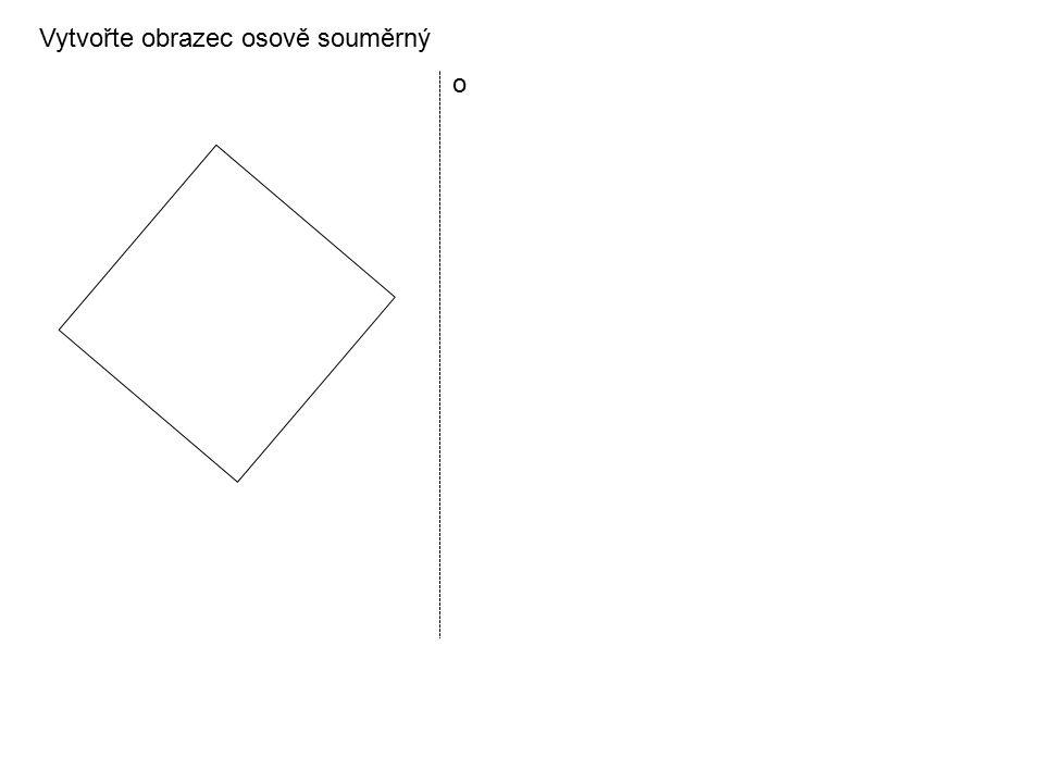 Vytvořte obrazec osově souměrný o