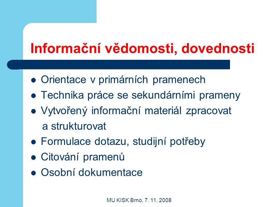MU KISK Brno, 7.11.