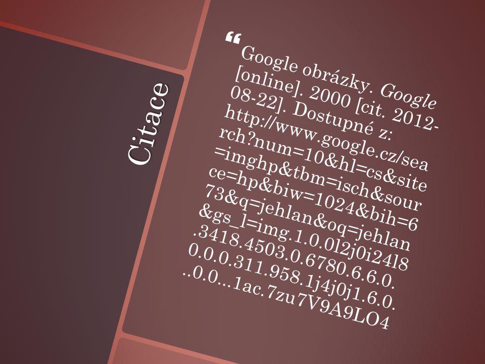 Citace   Google obrázky. Google [online]. 2000 [cit.