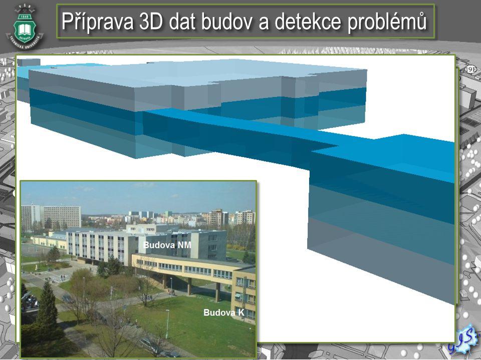  Vektorová vrstva budov a komunikaci areálu VŠB- TUO  Plán jednotlivých místností  Vektorová vrstva budov a komunikaci areálu VŠB- TUO  Plán jedno