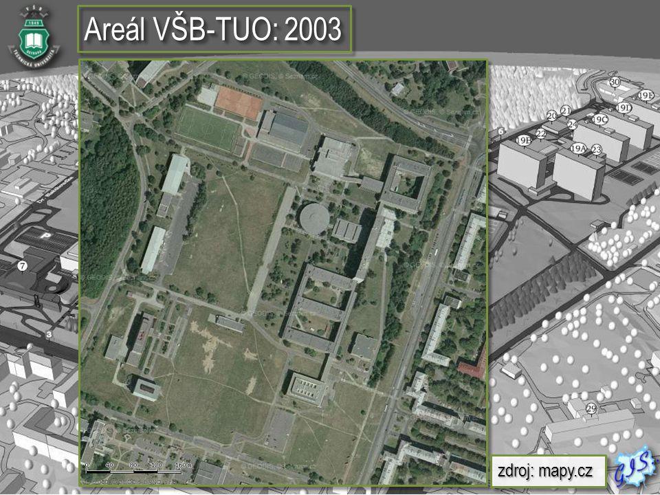Areál VŠB-TUO: 2003 zdroj: mapy.cz