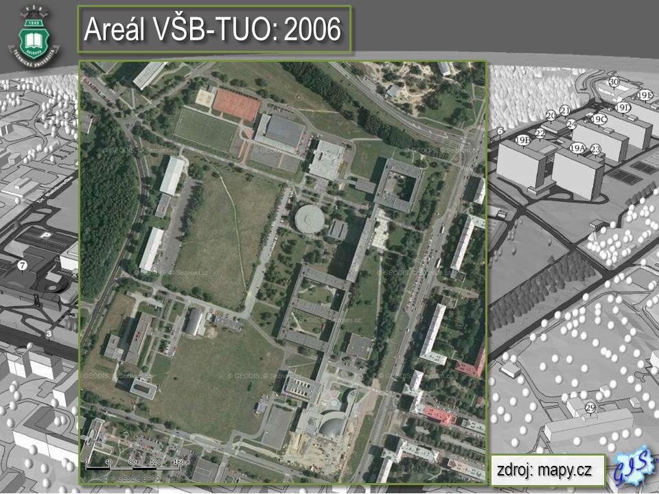  Vektorová vrstva budov a komunikaci areálu VŠB- TUO  Plán jednotlivých místností  Vektorová vrstva budov a komunikaci areálu VŠB- TUO  Plán jednotlivých místností Příprava 3D dat budov a detekce problémů