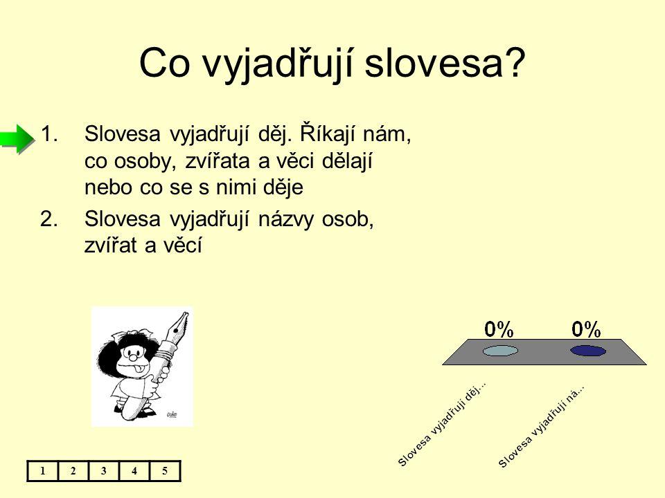 Jaké tvary mohou mít slovesa? 12345 1.Žádné tvary nemají 2.Tvar jednoduchý a tvar složený