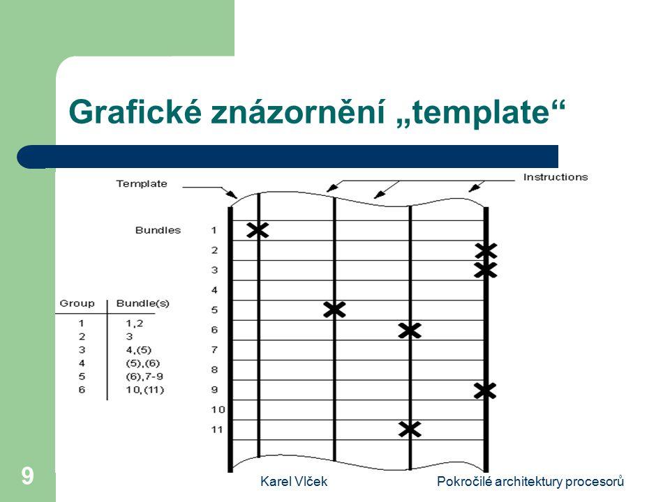 """Karel VlčekPokročilé architektury procesorů 9 Grafické znázornění """"template"""""""