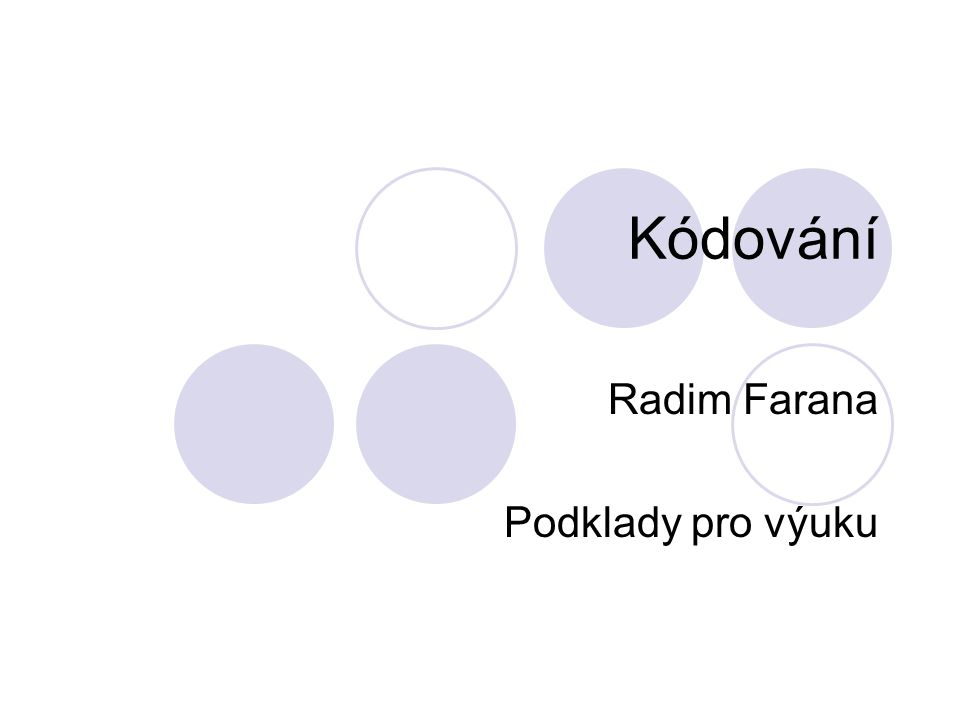 Obsah Cyklické kódy.