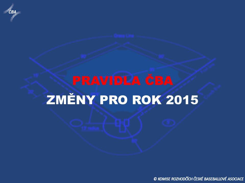 PRAVIDLA ČBA ZMĚNY PRO ROK 2015