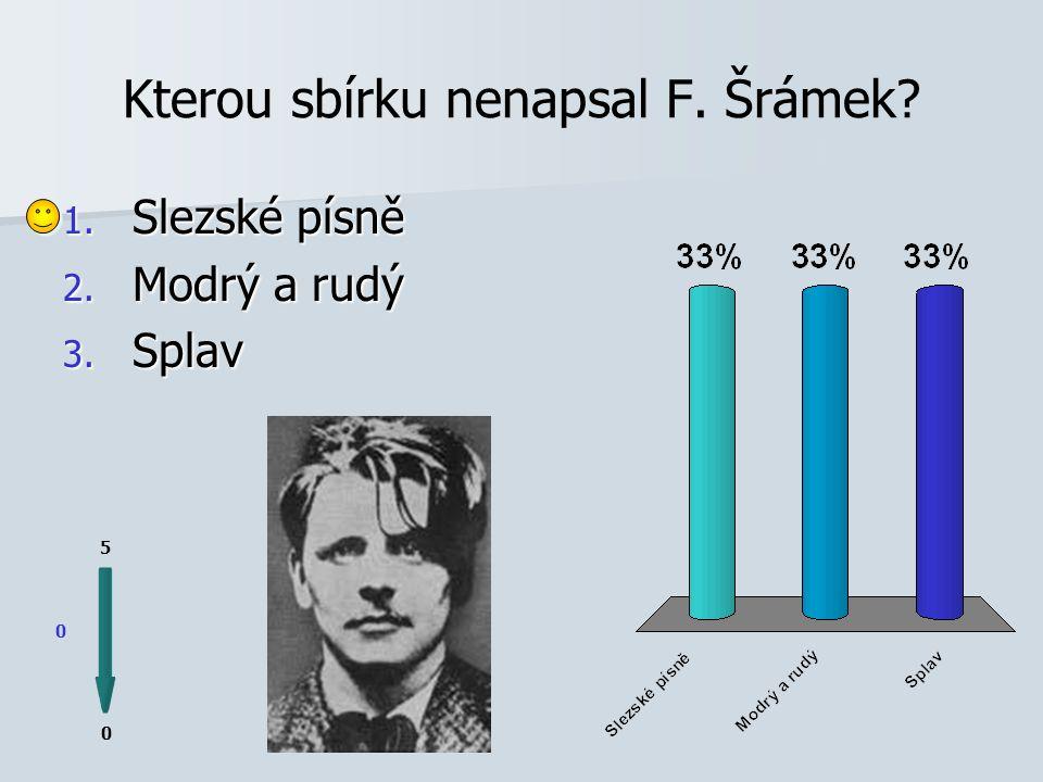"""Šrámek byl za svoji báseň """"Píšou mi psaní 0 0 5 http://img.spisovatele.cz/foto/frana-sramek/frana-sramek.jpg 1."""