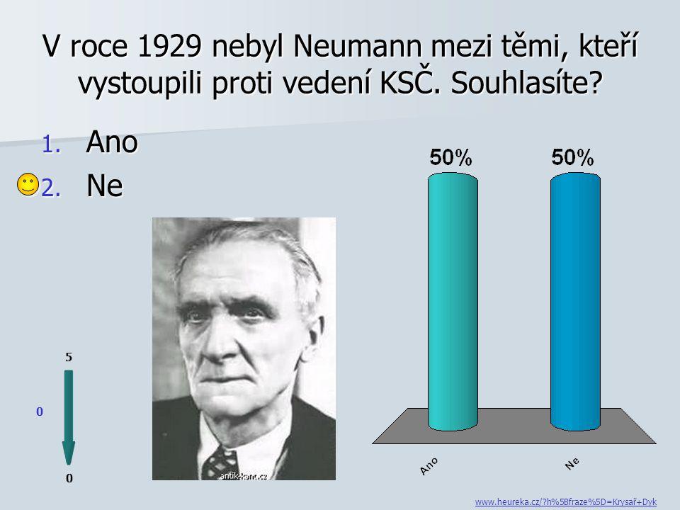 Díky svým levicovým postojům je Neumann neprávem řazen ke komunistickým spisovatelům.