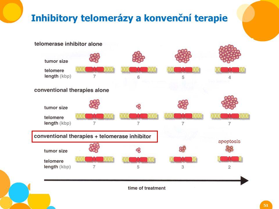 Inhibitory telomerázy a konvenční terapie 51