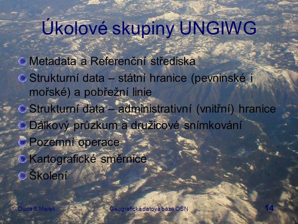 15 Duda & MarekGeografická datová báze OSN