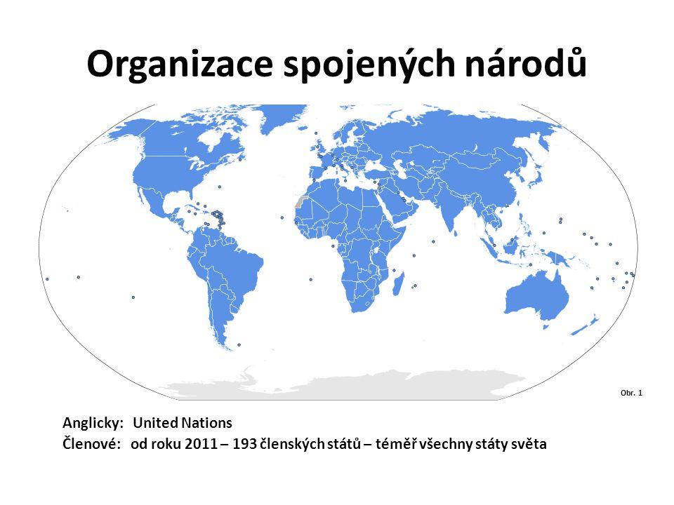 Organizace spojených národů Obr. 1