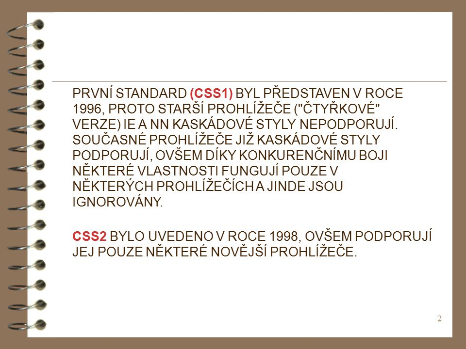 43 8.VLASTNOSTI CSS - BARVY Nastavuje barvu textu.