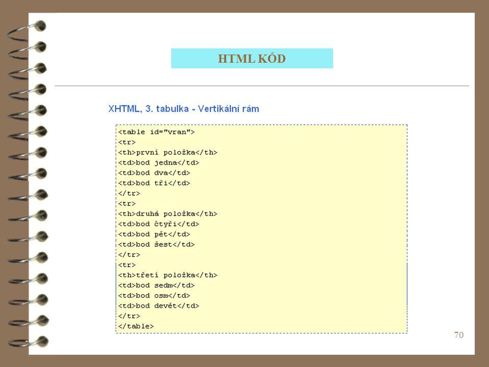 70 HTML KÓD