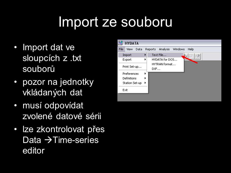 Ruční editace Importovaná data lze ručně opravit nebo doplnit Editor současně slouží pro kontrolu správnosti importu