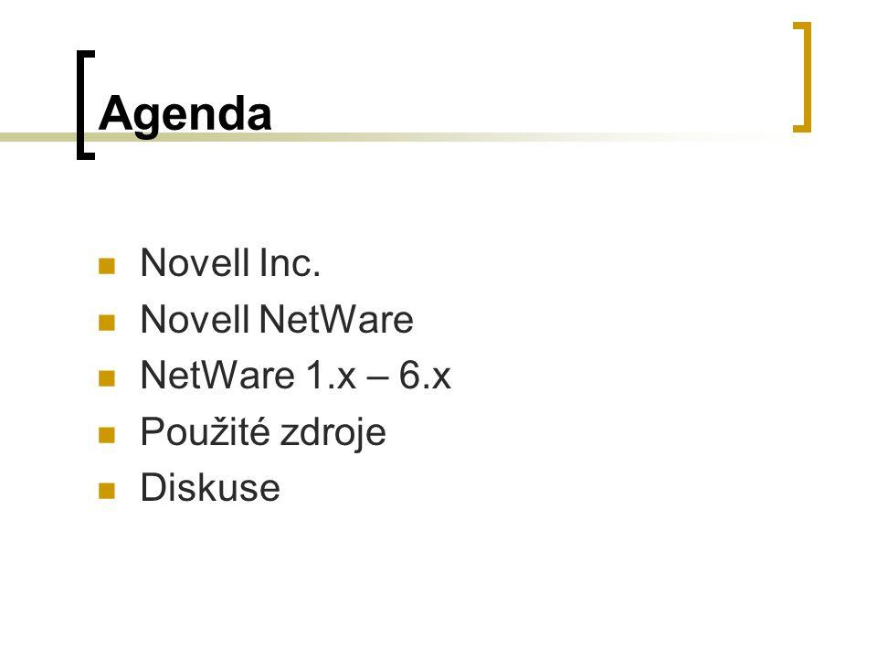 NetWare 6.x Nezávislost na operační platformě  Nativní přístup NFAP Novell Native File Access Pack Vlastní protokoly (CIFS,AFP,NFS)  Webový přístup NetWare Web Access Webové utility  NetWare Web Manager (web.