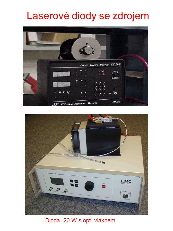 Laserové diody se zdrojem Dioda 20 W s opt. vláknem