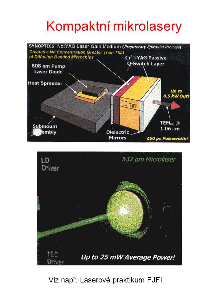 Kompaktní mikrolasery Viz např. Laserové praktikum FJFI