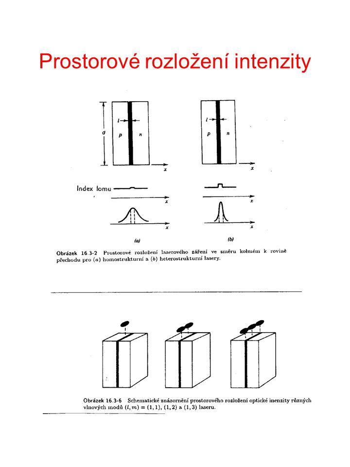 Diody složené z více emiterů Multiple Stripe Lasers Cíl: Zvýšení výstupního výkonu.