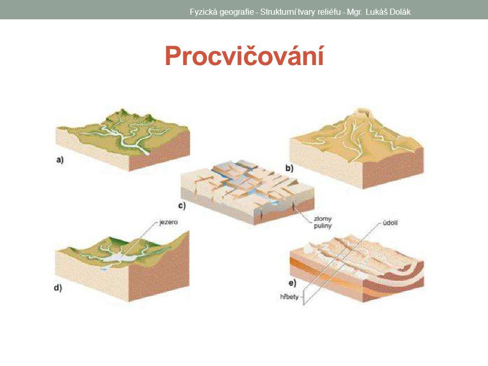 Procvičování Fyzická geografie - Strukturní tvary reliéfu - Mgr. Lukáš Dolák