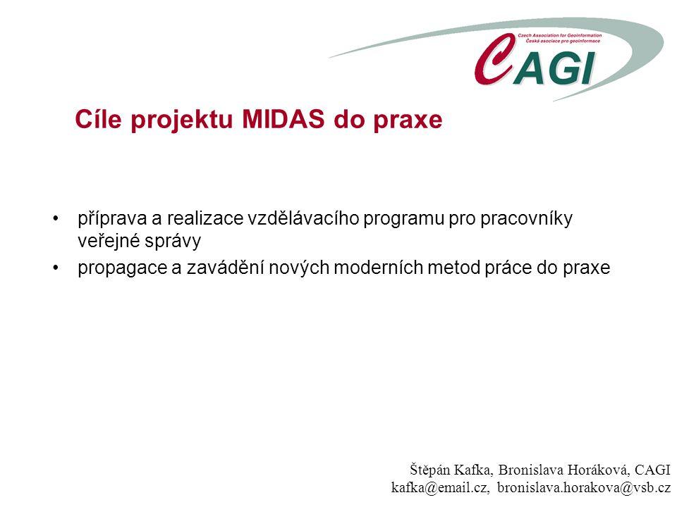 příprava a realizace vzdělávacího programu pro pracovníky veřejné správy propagace a zavádění nových moderních metod práce do praxe Cíle projektu MIDA