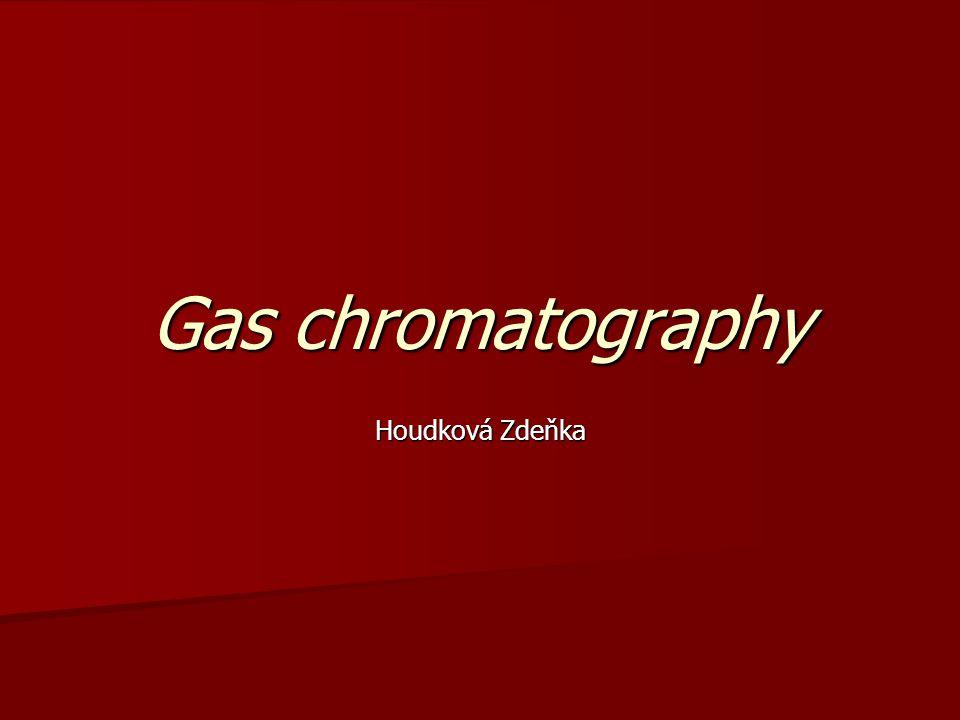 Gas chromatography Houdková Zdeňka