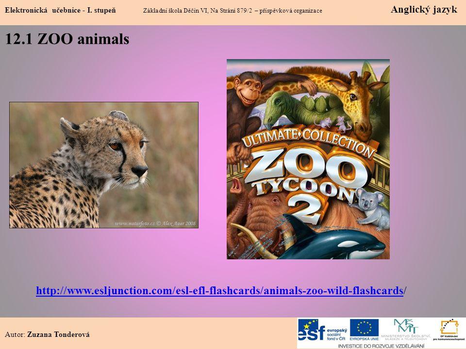 12.1 ZOO animals Elektronická učebnice - I.