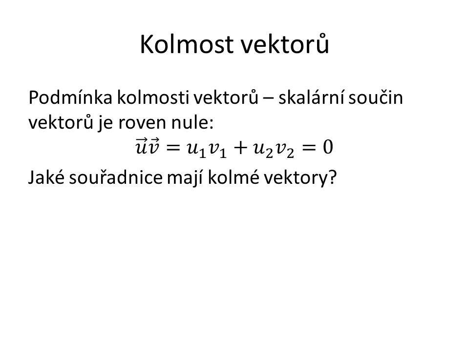 Kolmost vektorů