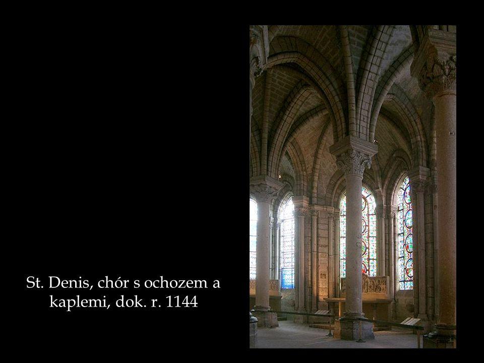 St. Denis, chór s ochozem a kaplemi, dok. r. 1144