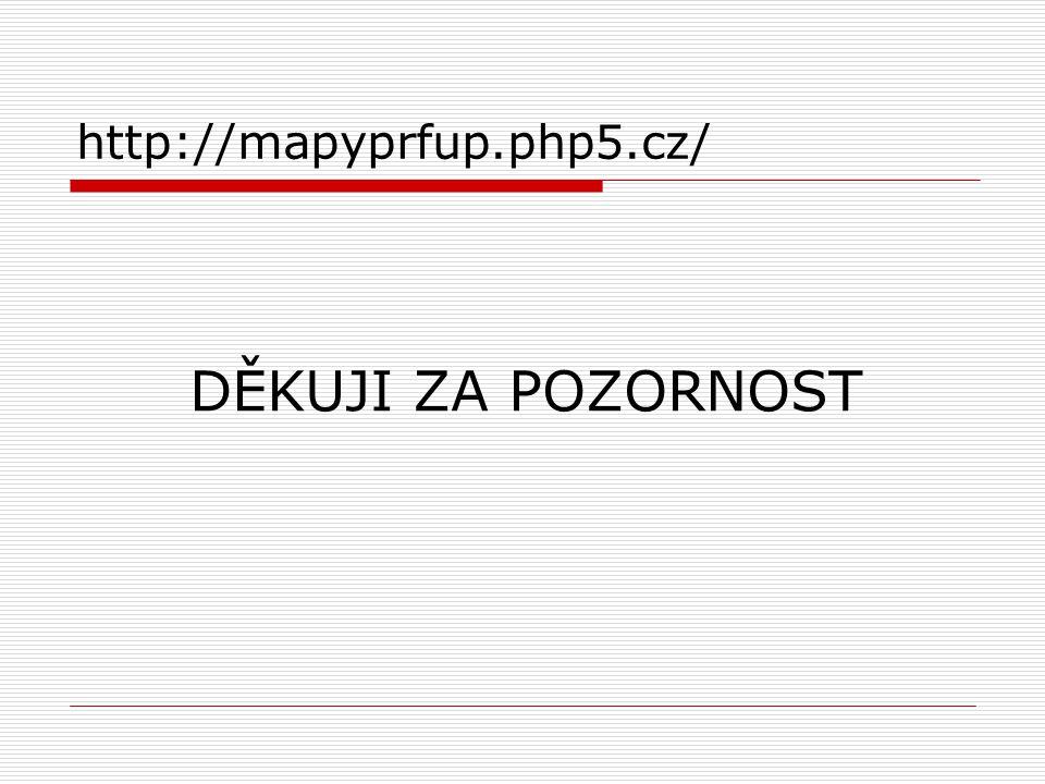 DĚKUJI ZA POZORNOST http://mapyprfup.php5.cz/