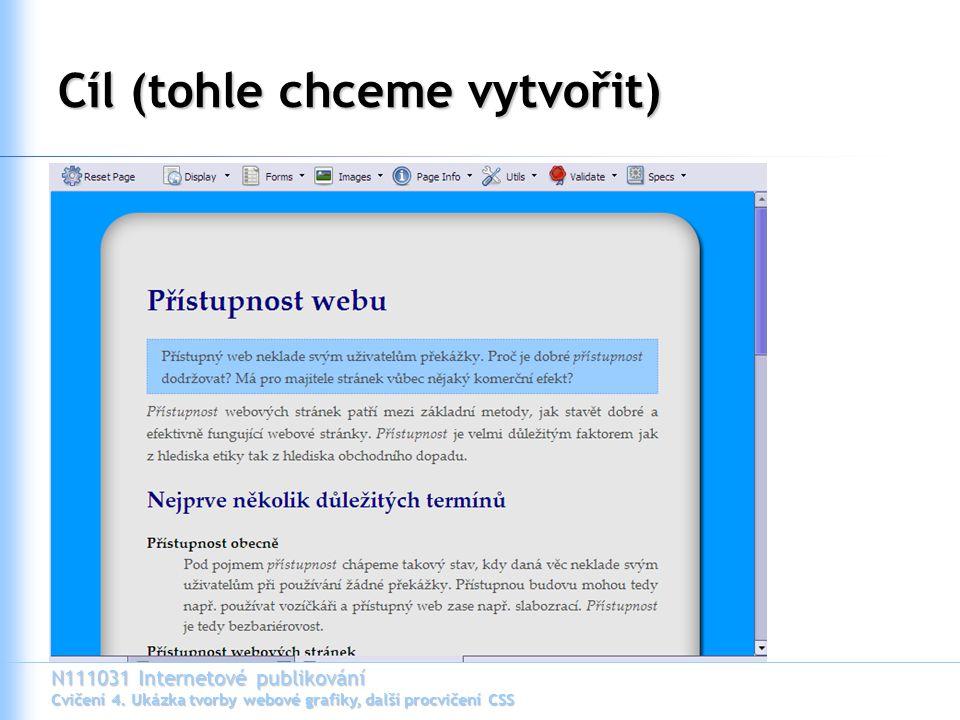 N111031 Internetové publikování Cvičení 4.