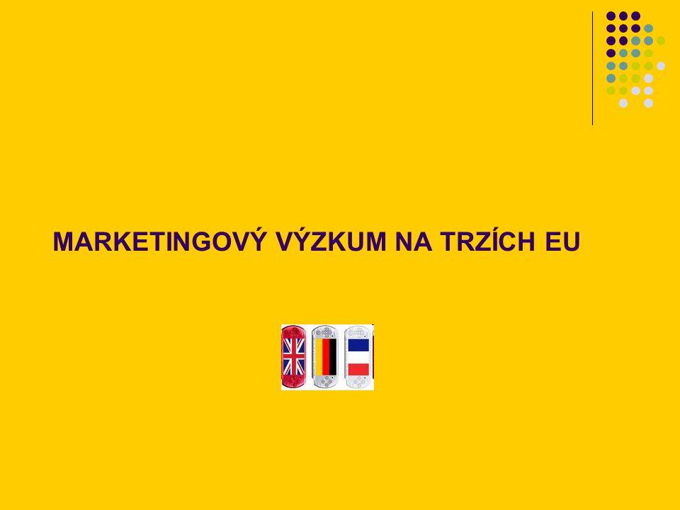 MARKETINGOVÝ VÝZKUM NA TRZÍCH EU