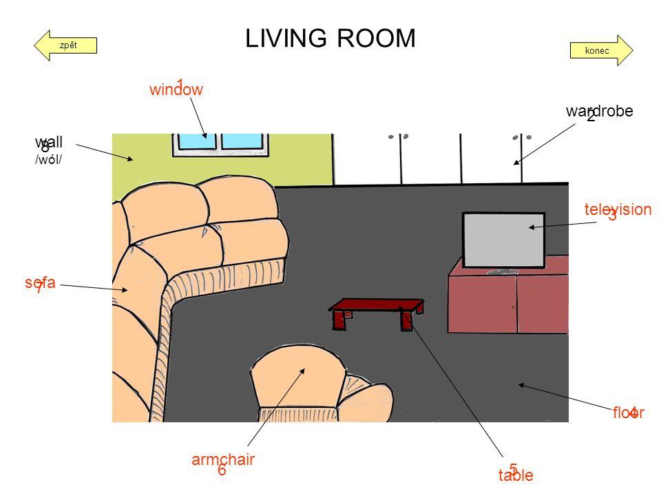 CHILDREN´S ROOM (bed room) wardrobe door floor bed pillow /pilou/ cover /kav r / desk keyboard /kýbó r d/ computer monitor wall /wól/ picture 1 2 3 4 5 6 78 9 10 11 12 zpět konec